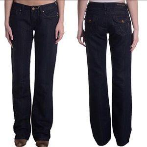 Dark bootcut MEK denim Reno jeans